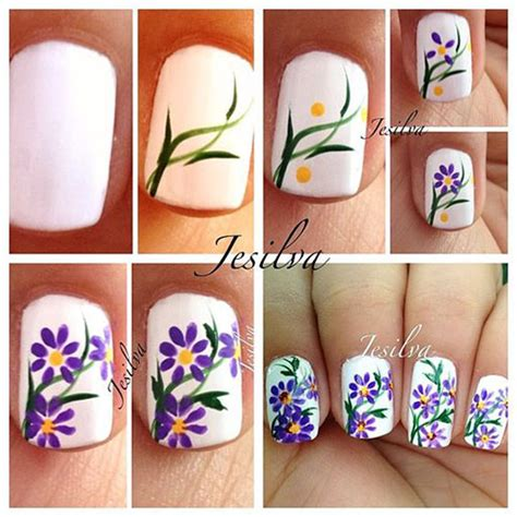 25 simple nail art tutorials for beginners 25 easy simple spring nails art tutorials for beginners