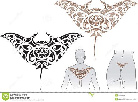 maori manta tattoo design royalty free stock image image