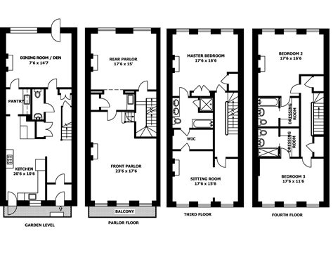 New Home Blueprints Brownstone House Plans Smalltowndjs Com