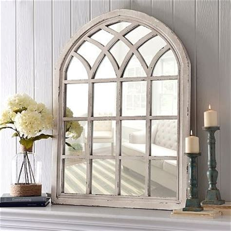 Window Mirrors Decorative by Distressed Marquis Pane Mirror Mantels Arches And