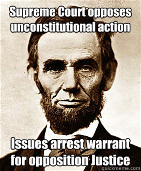 abraham lincoln unconstitutional takes oath to defend the constitution suspends habeas