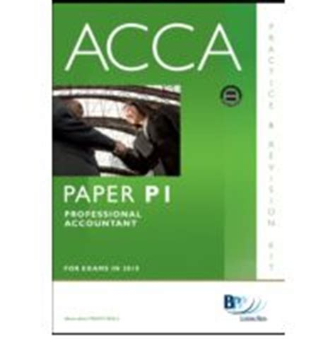 Mba For Acca In New Zealand by Acca Paper P1 Professional Accountant Practice And