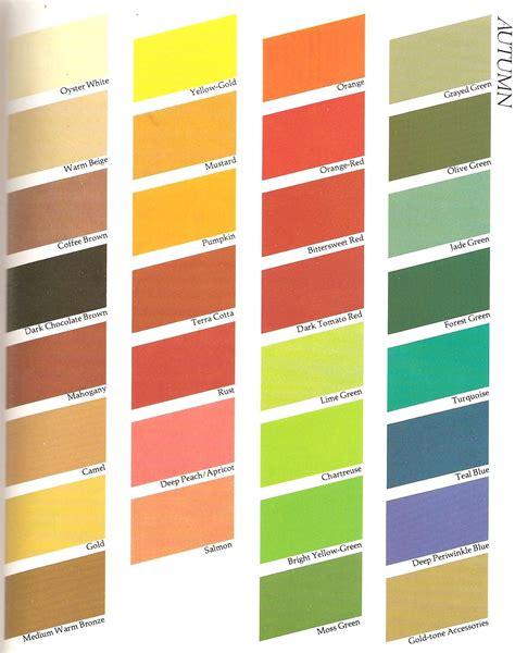 warm autumn color palette color me beautiful femonade