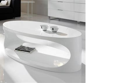 Table Basse Ovale Blanche 494 by Table Basse Ovale Blanc Laqu 233 Design Egg