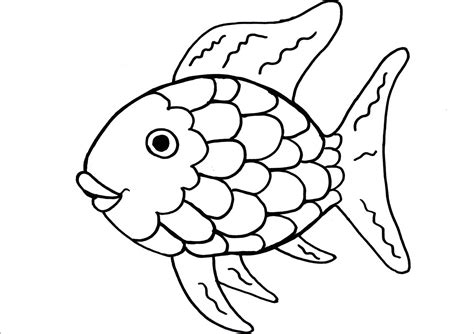 Coloring Pictures Coloring Page Of A Fish Rainbow Fish Coloring Pages by Coloring Pictures