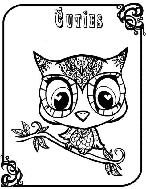 Pictures Of Owls To Color by Free Coloring Pages Baby Owls Coloring Sheet To Print