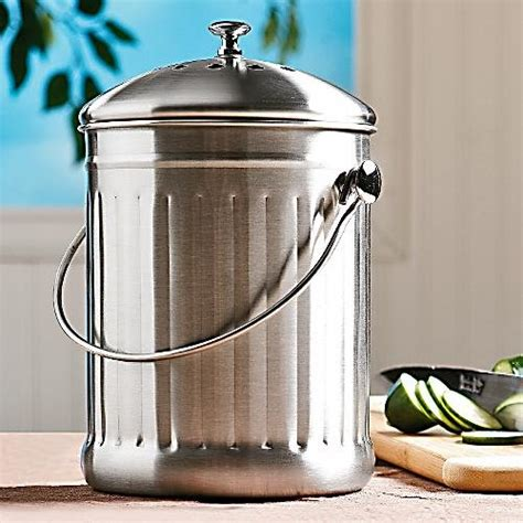 compost canister kitchen new stainless steel vegetable indoor kitchen compost container orderless keeper