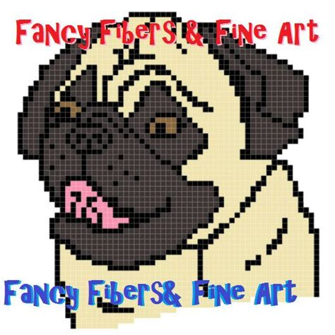 crochet pug pillow pattern crochet pattern pug afghan pillow graphghan by fiberandfineart 1 99
