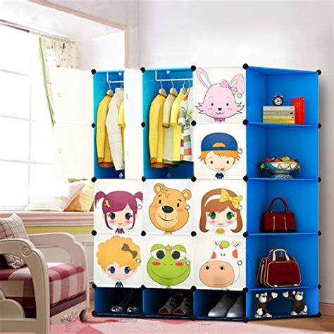Childrens Storage Cupboards - new 12 cubes wardrobe childrens storage cabinet boxes