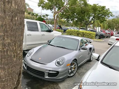 porsche ft lauderdale porsche 911 gt2 spotted in ft lauderdale florida on 01 10
