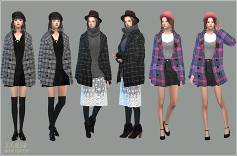 Jaket Vest Hoodie Xcom 2 Advent 3 my sims 4 accessory winter coats for females by marigold
