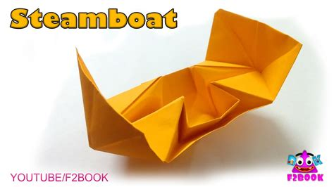 origami steamboat origami steamboat how to make easy paper boat f2book