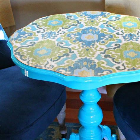 Best Decoupage - decoupaged fabric table makeover 183 how to make a side