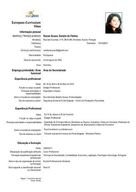 Modelo Curriculum Vitae Europeo Europass Cv Europass