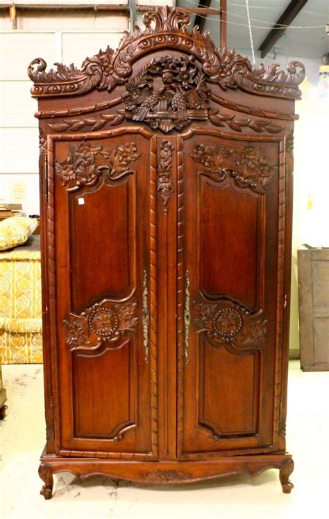 french style armoire two door french style mahogany armoire