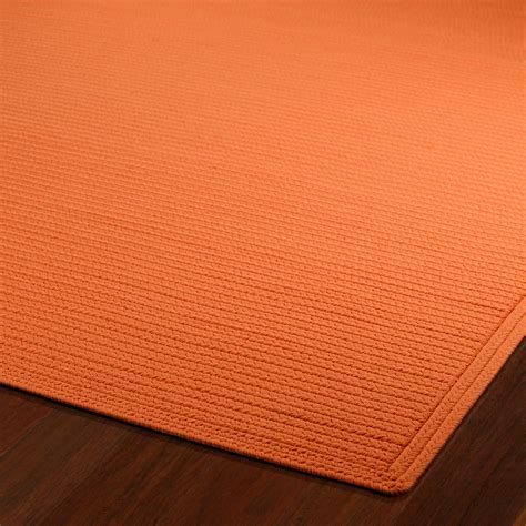 Orange Outdoor Rug Shop Orange Outdoor Rug 8ft X 11ft Kaleen Rugs Outdoors Dfohome Dfohome