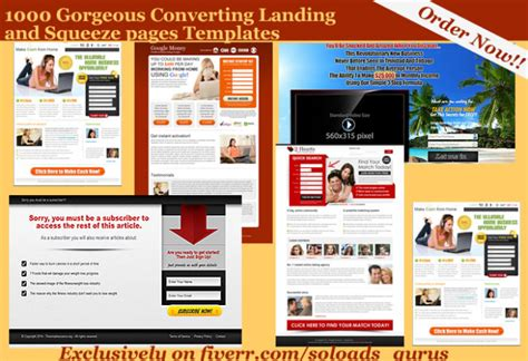 provide 1000 gorgeous converting landing and squeez