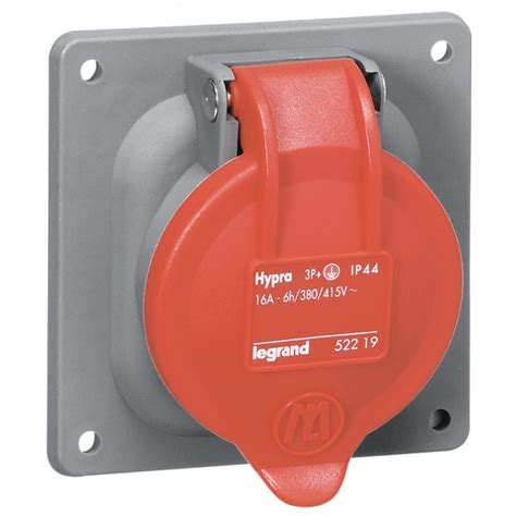 Industrial Mounting Cee 4p 16a 1 prise tableau 16 232 res 3p t ip44 legrand hypra eu