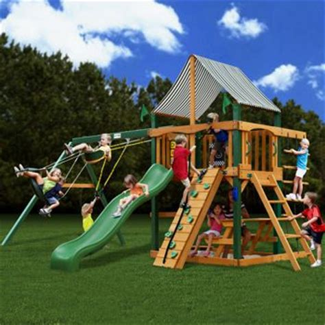 gorilla swing sets costco this one has it all gorilla 174 playsets sahara adventure