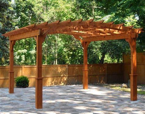 Red Cedar Free Standing Arched Pergolas Garden Secrets Curved Pergola Kits