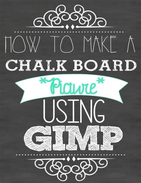 how to make your own super cute chalk board picture