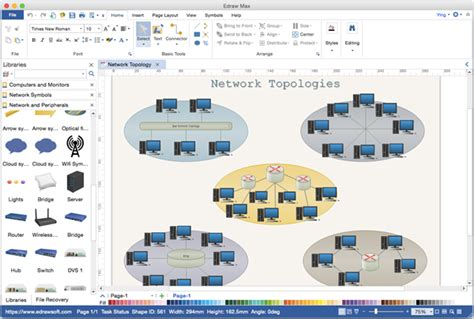 microsoft visio network diagram network diagram alternative to microsoft visio for mac