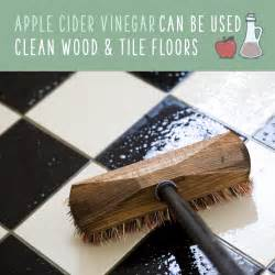 can you use apple cider vinegar to clean wood floors