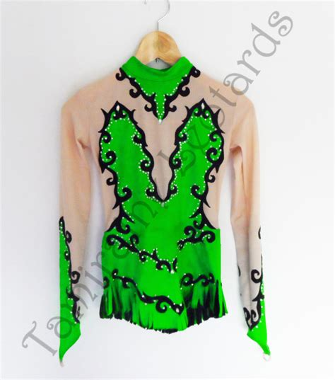Handmade Leotards - rhythmic gymnastics leotard handmade by tamiraineleotards