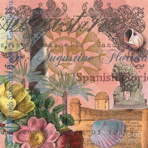 mary hubley s power of paintings antique art blog st augustine florida vintage collage digital art by mary