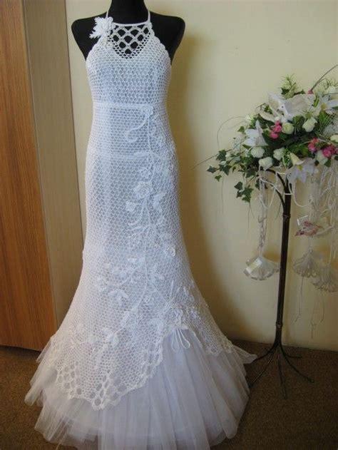 Pattern Wedding Pinterest   free hand crochet wedding gown crochet pattern for