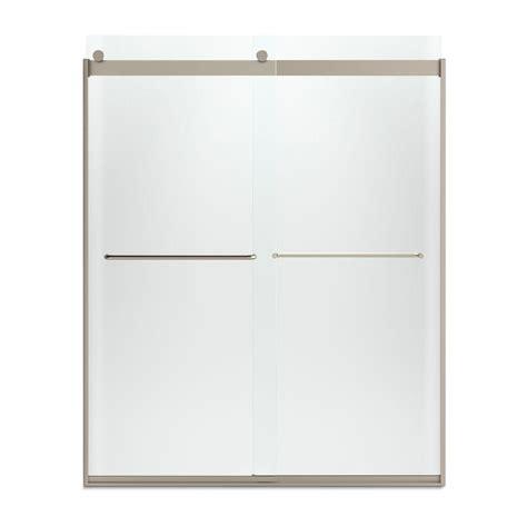 Kohler Levity 59 5 8 In X 74 In Semi Frameless Sliding Sliding Shower Door Towel Bar