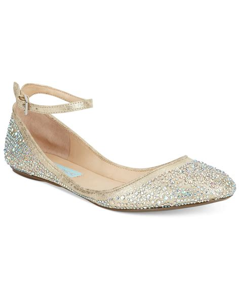 flat wedding shoes blue by betsey johnson evening flats flats ballet