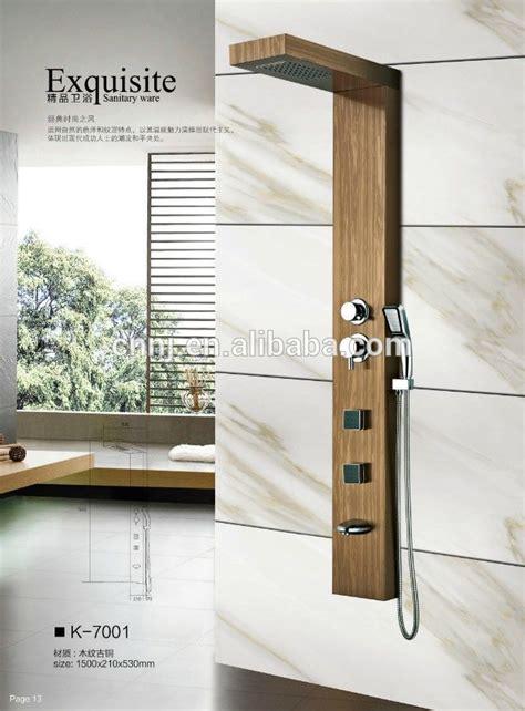 Rv Bathroom Paneling K 7001 Hout Kleur Rvs Panel Kraan