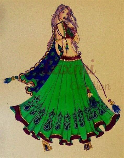 fashion illustration indian indian design indian sketching