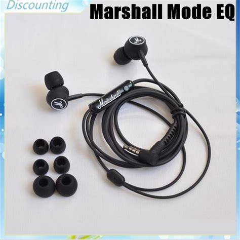 Handset Marshall Mode Earphones new marshall mode eq headphone phone black earphone with mic hifi ear buds in ear marshell