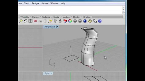 video tutorial rhino 5 rhino 5 tutorial extruding curves infiniteskills