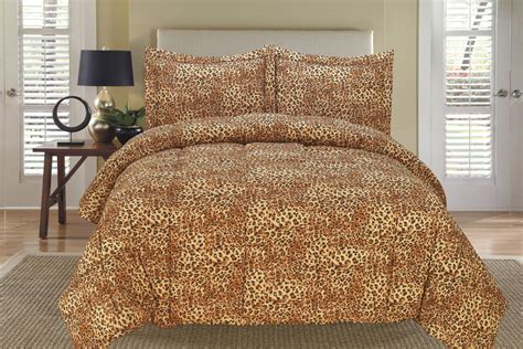leopard queen comforter set leopard down alternative comforter set full queen ebay