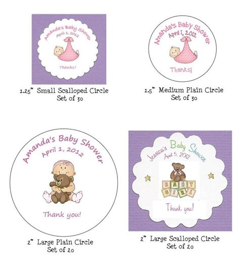 Baby Shower Favor Tags by Baby Shower Favor Tags 8 Shape Choices 200 Graphics
