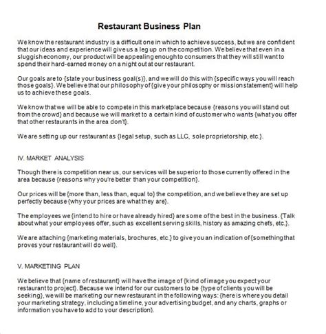 5 Free Restaurant Business Plan Templates Excel Pdf Formats Family Business Plan Template