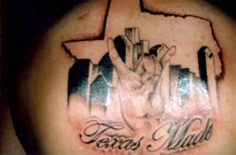 texas made tattoo simple with made text golfian