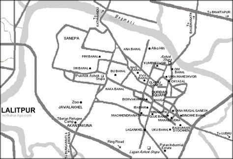 map of lalitpur nepal map of lalitpur patan city nepal