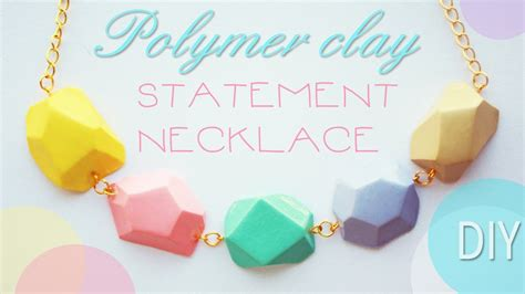 how to make jewelry out of clay polymer clay statement necklace tutorial
