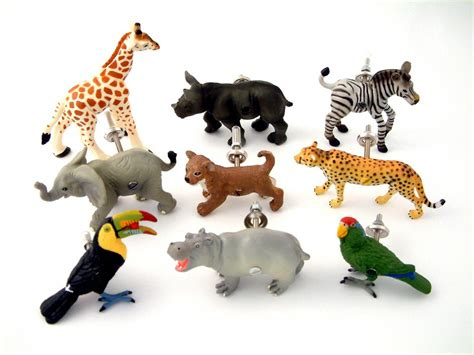 Jungle Drawer Knobs by Childrens Safari Animal Jungle Themed Bedroom Drawer Cupboard Knobs Set Of Nine Safari Animals