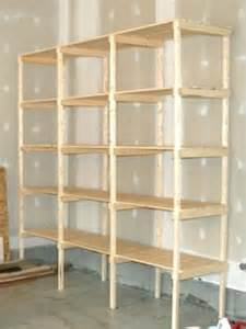 regale abstellraum building storage shelves