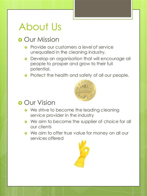 Sle Company Profile Template Pdf by Cleaning Services Company Profile Pdf 28 Images