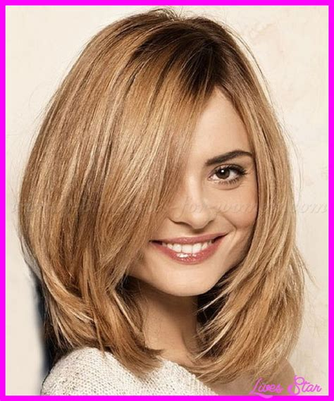 haircuts for round face layers medium length layered haircut round face livesstar com