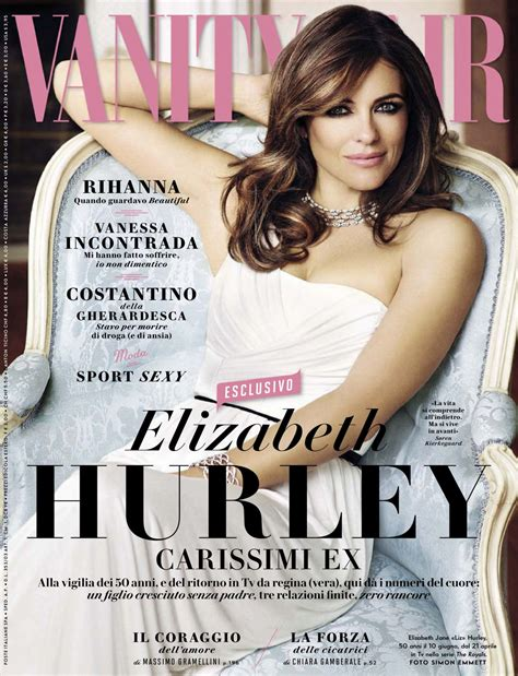 How Much Is Vanity Fair Magazine by Elizabeth Hurley In Vanity Fair Magazine Italy April 2015