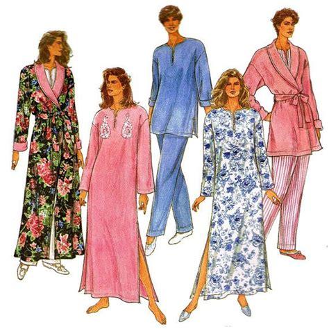 kimono pajama pattern 1990s bath robe and pajama pattern simplicity 8142 caftan