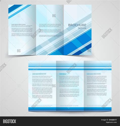 4 sided brochure template tri fold business brochure template two sided template