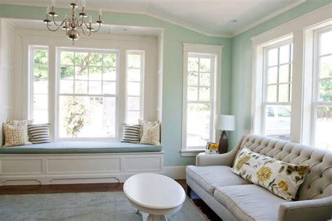 palladian blue benjamin built in window seat transitional living room benjamin palladian blue caitlin